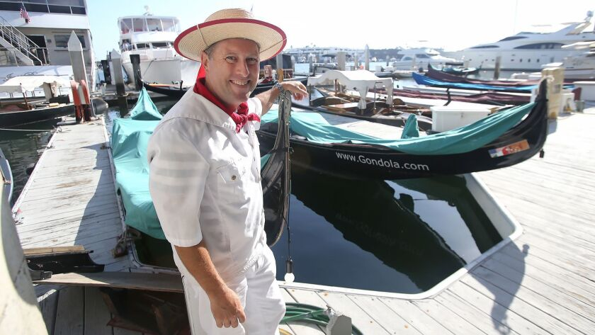 Co-owner Greg Lohr operates Gondola Adventures out of Newport Harbor. The company is losing its leas