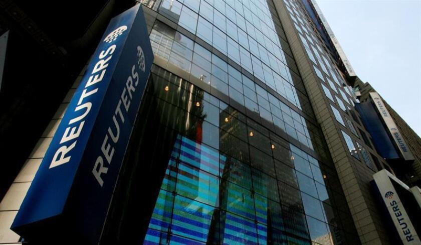 Vista del edificio de la agencia de noticias e información financiera Reuters. EFE/Archivo