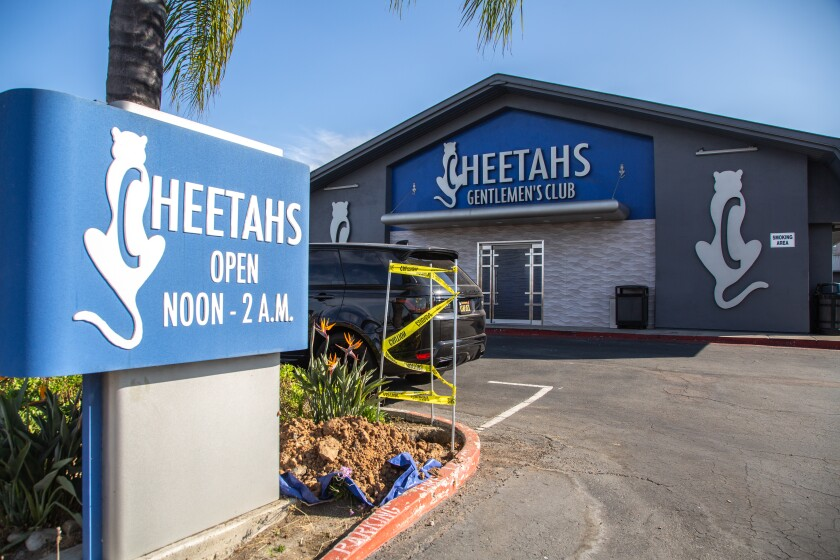 Cheetahs Gentleman's Club was open for business on Monday, drawing the attention of health order enforcement officers.