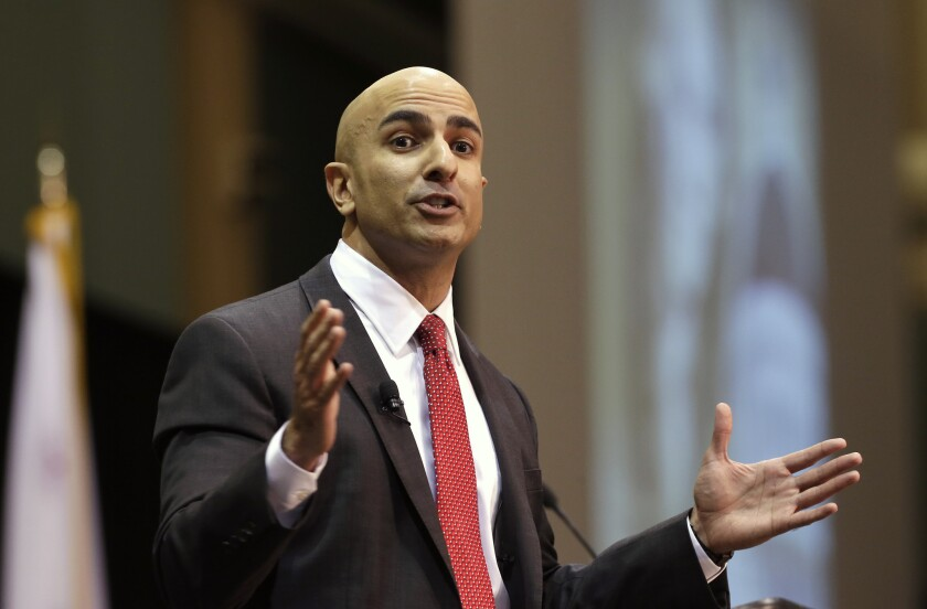 Neel Kashkari, a former U.S. Treasury official, announces that he will run for governor of California during an appearance at Cal State Sacramento. Kashkari and other state candidates will have access to new targeted advertising from satellite TV providers DirecTV and Dish Network.