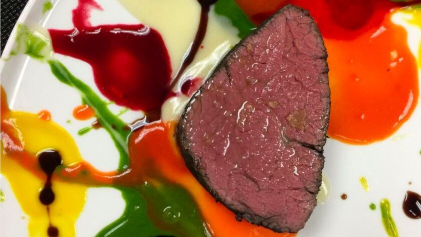 Splashes of color and flavor defined the art of veal from Massimo Bottura and Michael Cimarusti at a