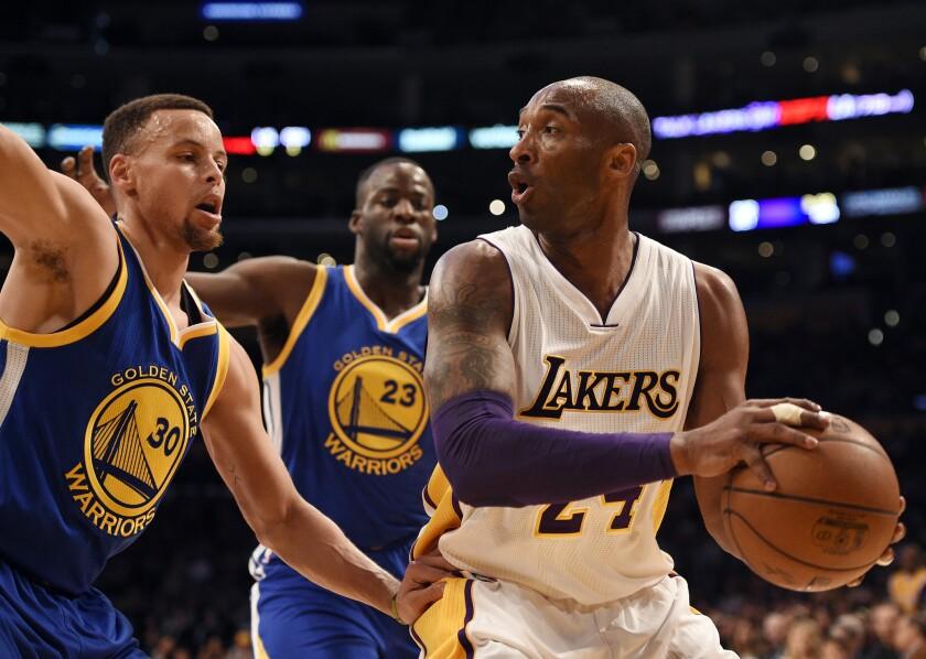 Kobe Bryant, Stephen Curry, Draymond Green