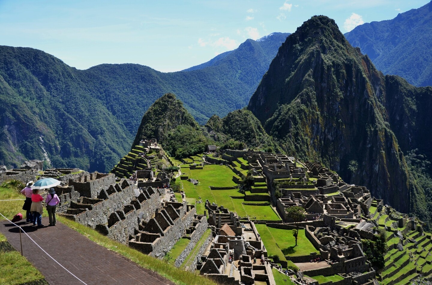 The classic Machu Picchu view from just below the site's ancient guardhouse.