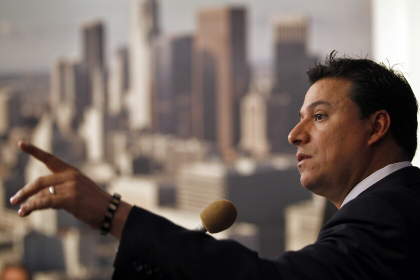 Los Angeles City Councilman Jose Huizar is facing federal charges of bribery, money laundering and racketeering.
