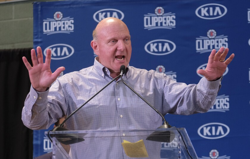 Clippers owner Steve Ballmer says success will ultimately be determined by how well the team performs in the postseason.