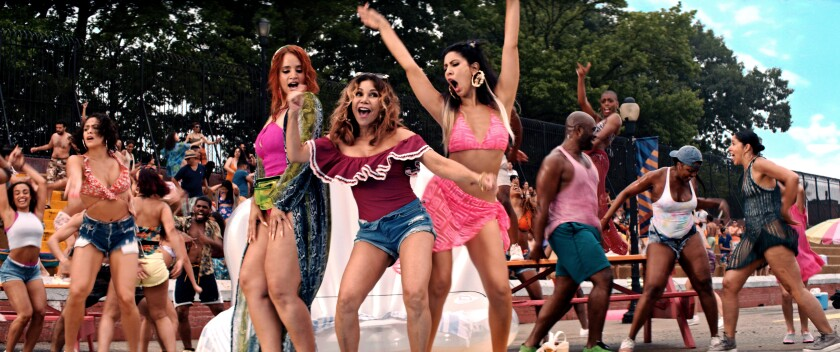 """Residents dance in the streets in """"In the Heights"""""""