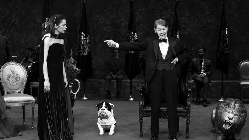 """Ruth Wilson, left, and Glenda Jackson in """"King Lear,"""" directed by Sam Gold at Broadway's Cort Theatre."""
