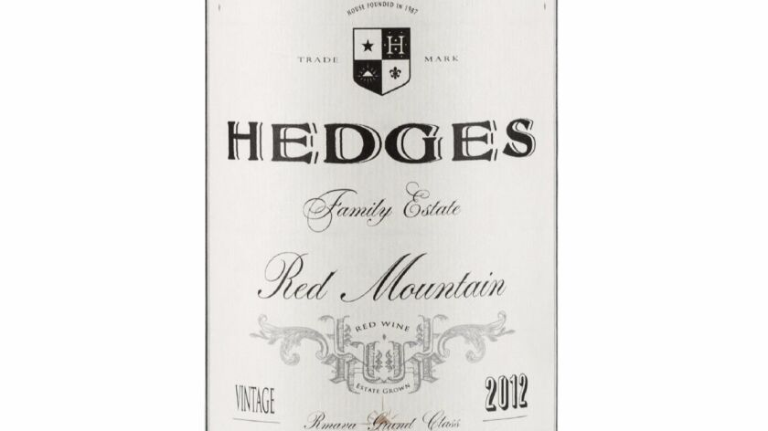 The 2012 Hedges Red Mountain is a blend of 60 percent cabernet sauvignon, 26 percent merlot and smaller amounts of cab franc, syrah and malbec.