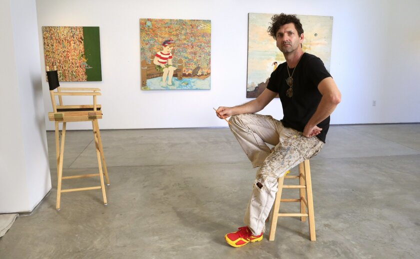 Artist Marcus Kenney at the Lux Art Institute.