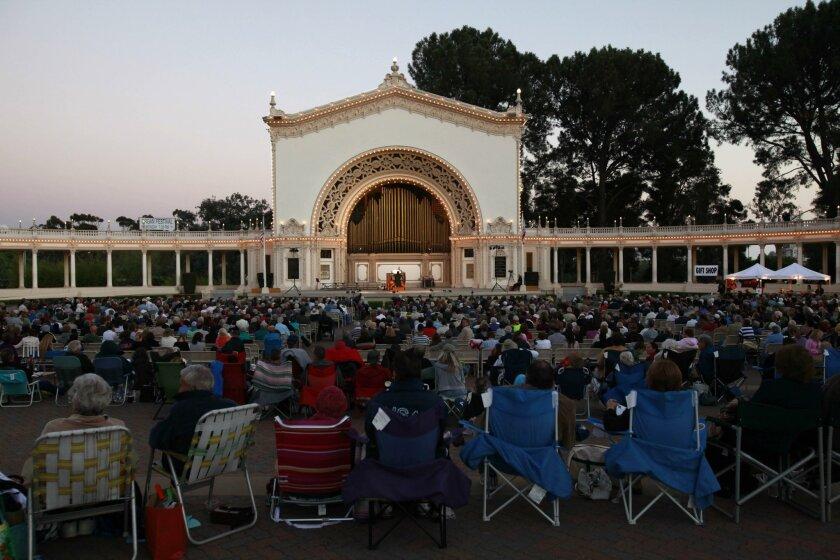 A Summer Organ Festival concert, performed by organist Carol Williams at the Spreckels Organ Pavillion in Balboa Park.