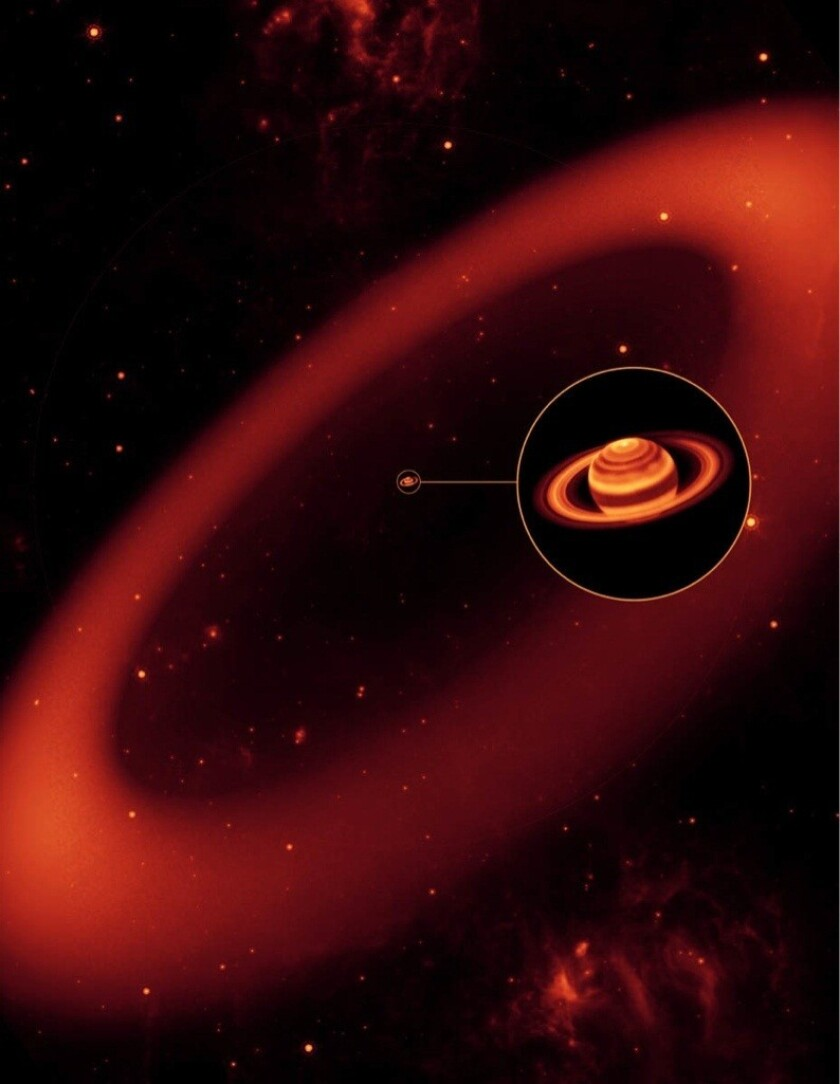 Saturn's outermost ring, Phoebe