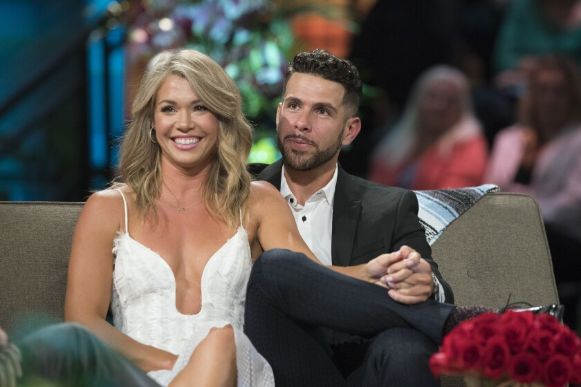 "Krystal Nielson and Chris Randone got engaged during ""Bachelor in Paradise"" on ABC."