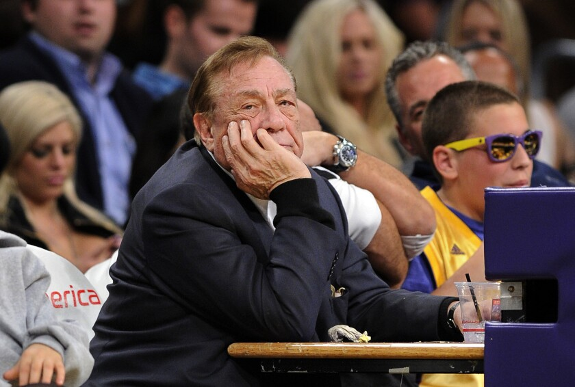Clippers owner Donald Sterling watches his team play a game on Feb. 25, 2011.