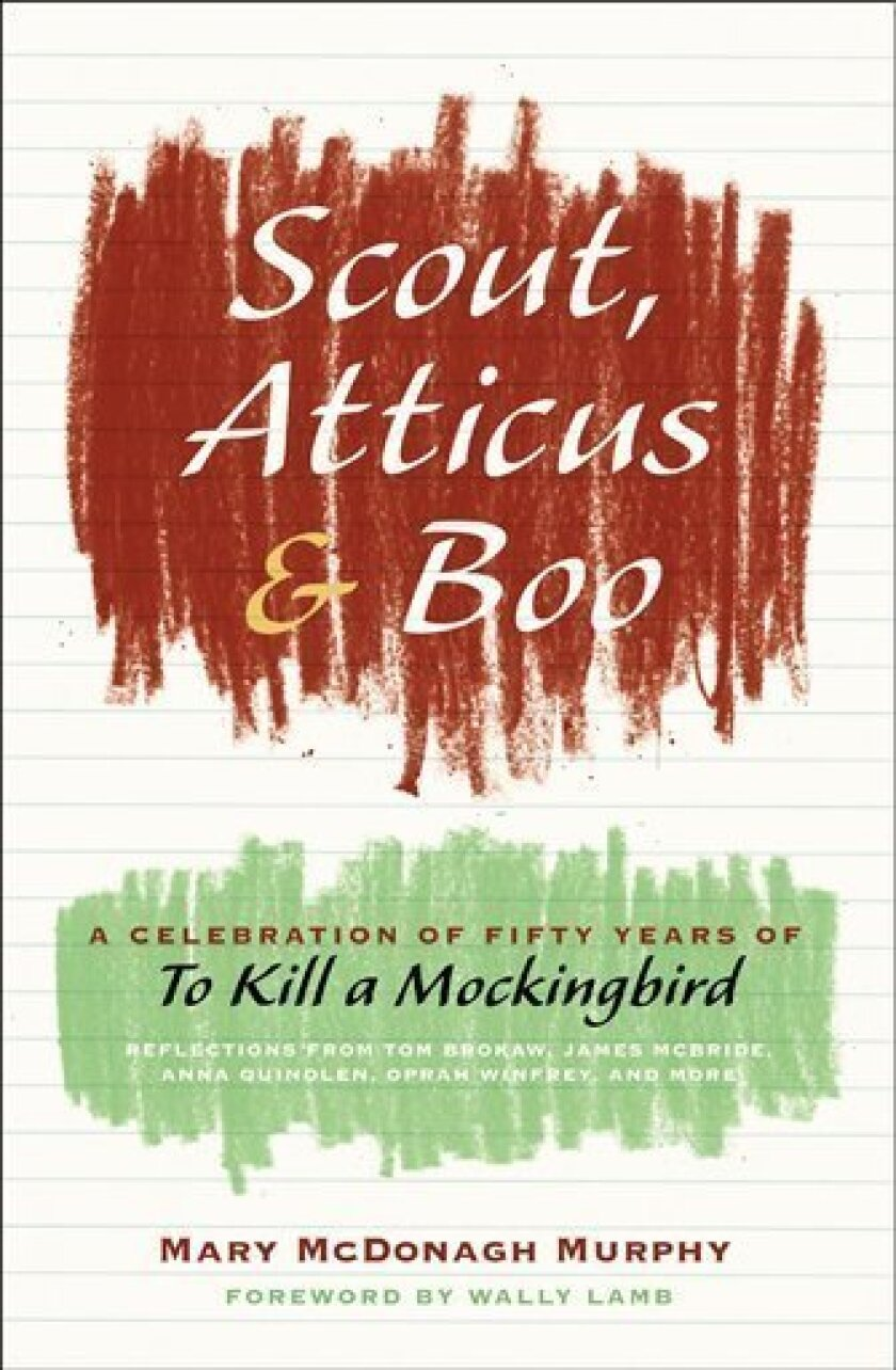 """In this book cover image released by Harper, """"Scout, Atticus & Boo: A celebration of fifty years of To Kill a Mockingbird,"""" by Mary McDonagh Murphy is shown. (AP Photo/Harper)"""