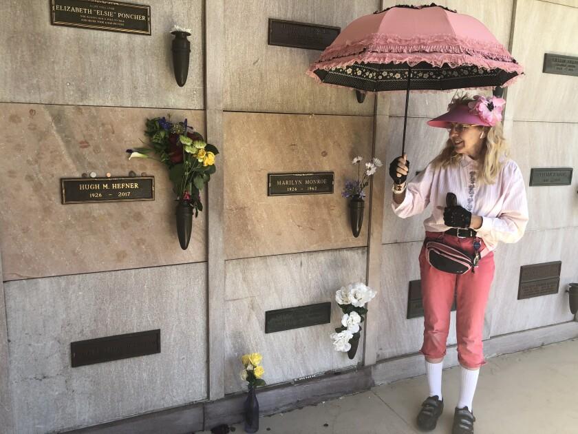Marsha Ebert regularly visits her parents' gravesites at Westwood Village Memorial Park