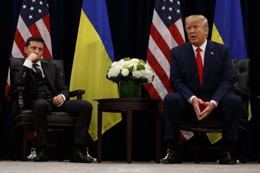 Volodymyr Zelensky and Donald Trump
