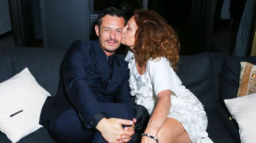 Jonathan Saunders and Diane von Furstenberg at the CFDA Fashion Awards after party
