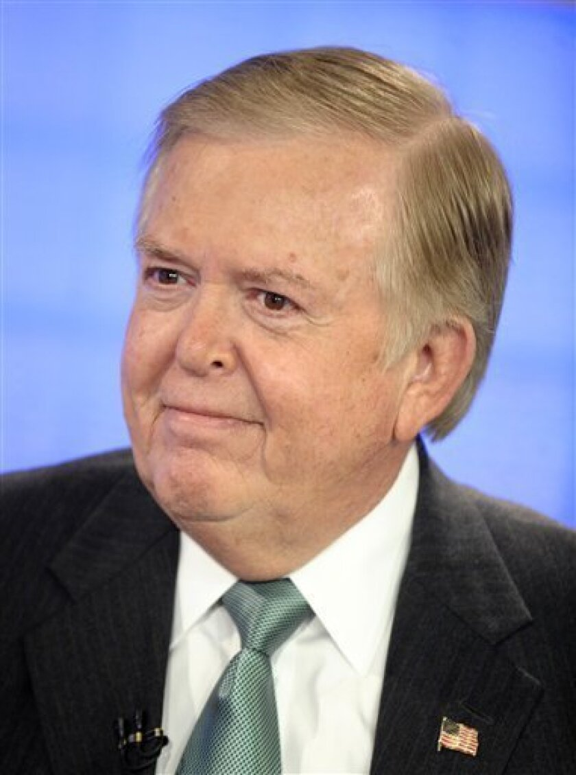 "FILE - In this Nov. 17, 2009 file publicity photo originally provided by NBC Universal, former CNN commentator Lou Dobbs appears on NBC's ""Today"" show in New York. (AP Photo/NBC, Peter Kramer, file)"