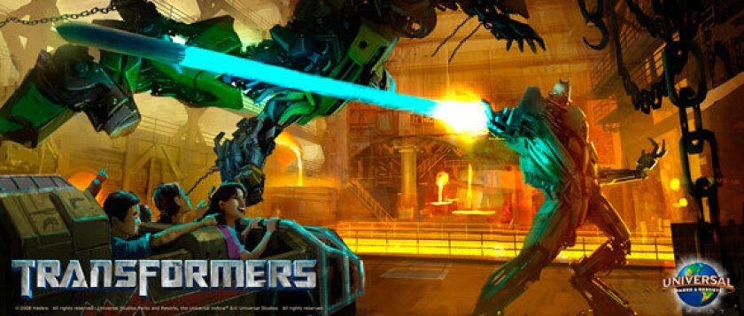 Transformers special effects dark ride coming to Universal Studios Hollywood in 2012