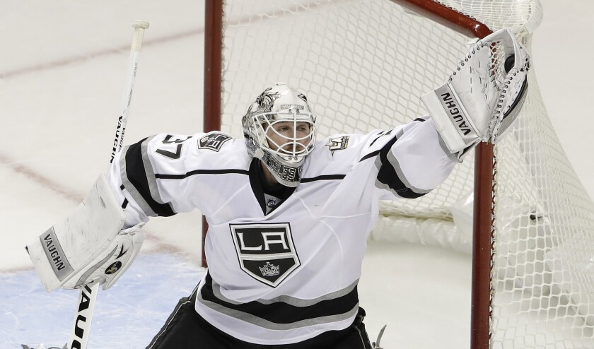 Jeff Zatkoff was 2-7-1 with a 2.95 goals-against average in 13 games for the Kings this season.
