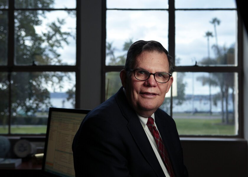 Ernest Dronenburg, the county clerk, had filed a petition with the California Supreme Court seeking to ban county clerks statewide from issuing licenses for same-sex marriages. / photo by K.C. Alfred * U-T San Diego
