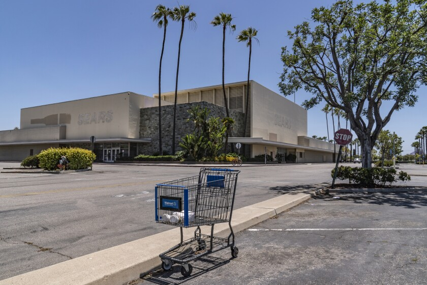 The closed Sears in Buena Park Mall in Buena Park, Calif.