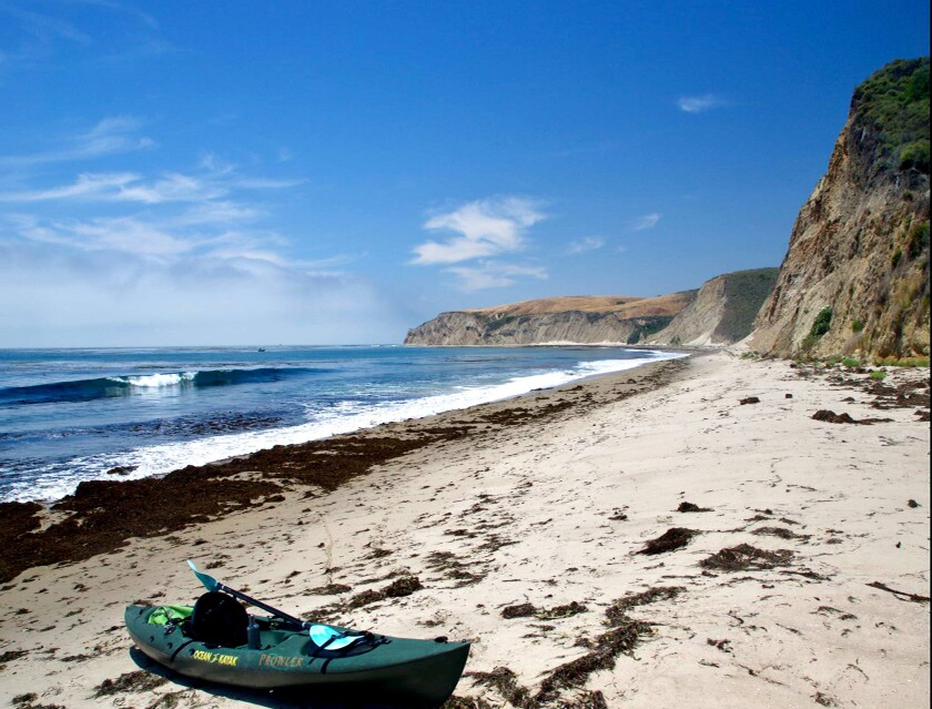 Gov. Gavin Newsom and columnist Steve Lopez in 2020 will kayak from Gaviota to the beach at Hollister Ranch, which has long been all but off limits to nonresidents.