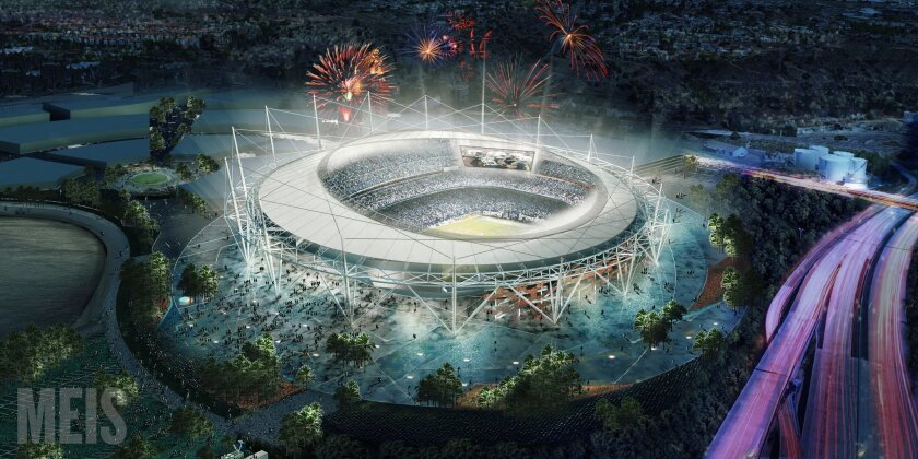 Rendering of new stadium proposed by the Citizens Stadium Advisory Group. Courtesy of Meis Architects.