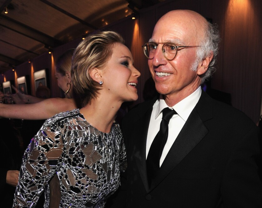 Jennifer Lawrence and Larry David