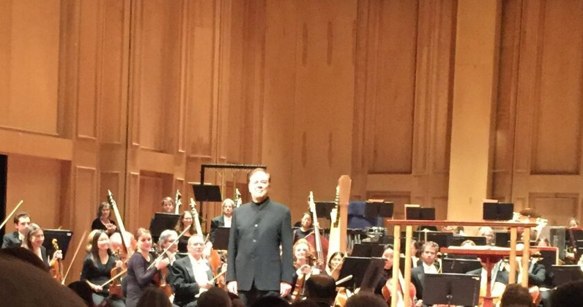 Ferruccio Furlanetto takes a curtain call at his U.S. recital debut with San Diego Opera on March 5 at the Jacobs Music Center's Copley Symphony Hall.