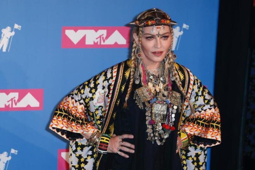 La cantante estadounidense Madonna posa en la sala de prensa de los Premios MTV Video Music Awards 2018 en el Radio City Music Hall, en Nueva York (EE.UU.). EFE/Archivo