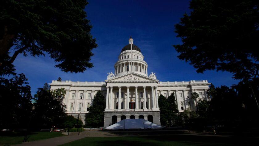 SACRAMENTO, CA - APRIL 8, 2014: California State Capitol Building, in Sacramento California, April