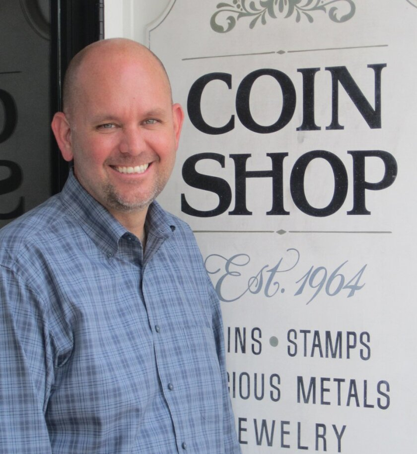 Michael McConnell has reopened the Coin Shop at 7746 Girard Ave. Photo: Courtesy