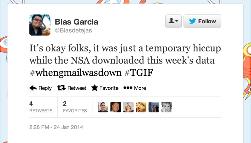 As soon as Gmail went down for users around the world, Twitter users quickly started cracking jokes.