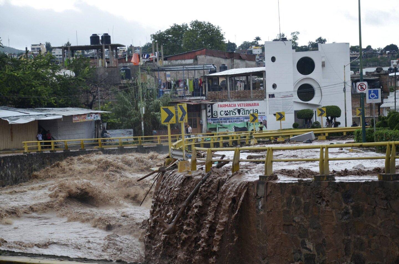 Tras las tormentas en Guerrero, México