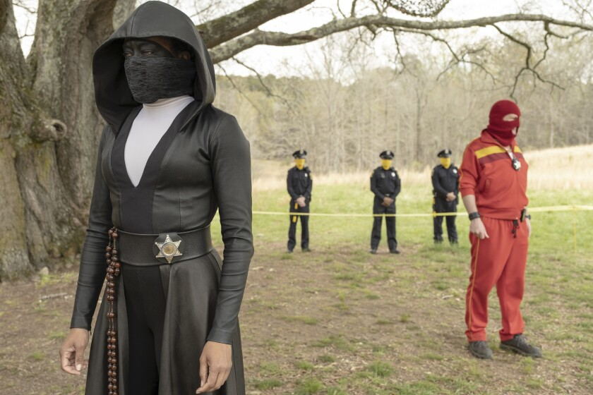 """Regina King and Andrew Howard in """"Watchmen,"""" which has readers talking."""