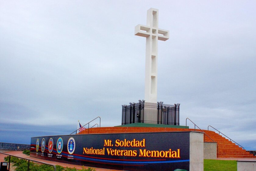 The Mt. Soledad National Veterans Memorial at 6905 La Jolla Scenic Drive South in La Jolla contains more than 4,200 tribute plaques, honoring veterans from the Revolutionary War up to current conflicts in the Middle East.