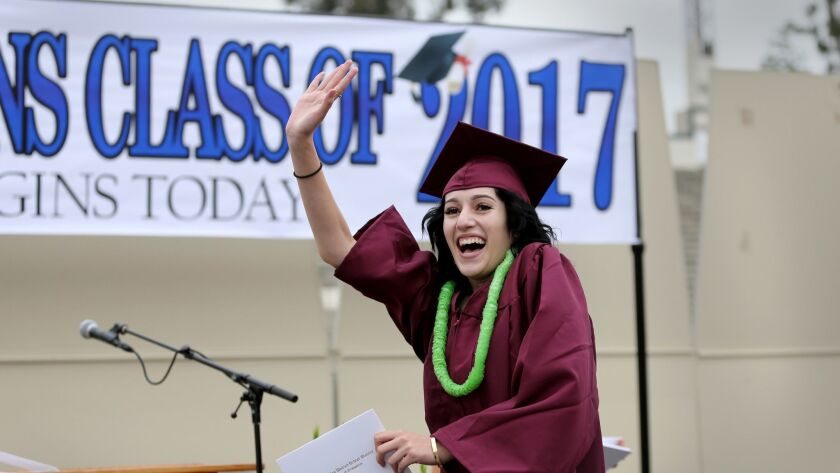 MONTEREY PARK, CALIF. -- WEDNESDAY, JUNE 7, 2017: Metropolitan High School student Yesenia Ceballo
