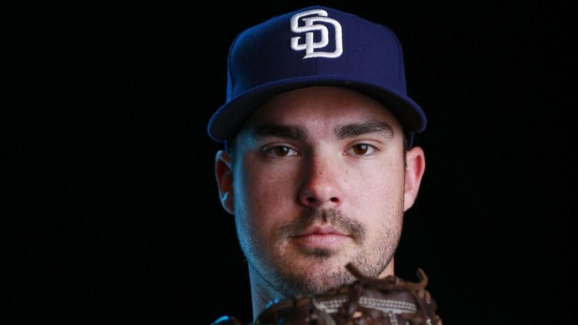 San Diego Padres pitcher Jacob Nix on Feb. 21, 2019.