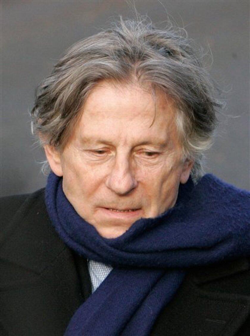Polish-born film director Roman Polanski during the burial ceremony for French film maker Claude Berri in Montrouge, outside Paris, Thursday, Jan. 15, 2009. (AP Photo/Michel Euler)