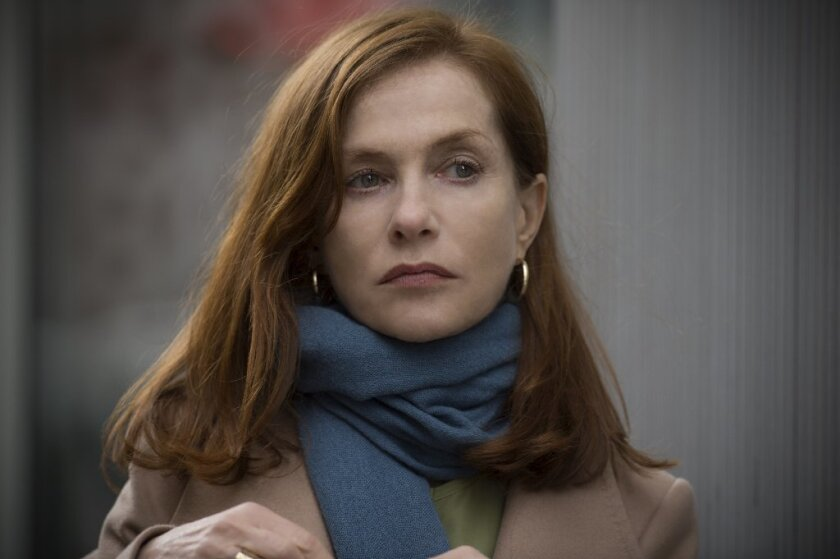 """Isabelle Huppert in """"Elle,"""" one of three movies she has at the Toronto Film Festival."""