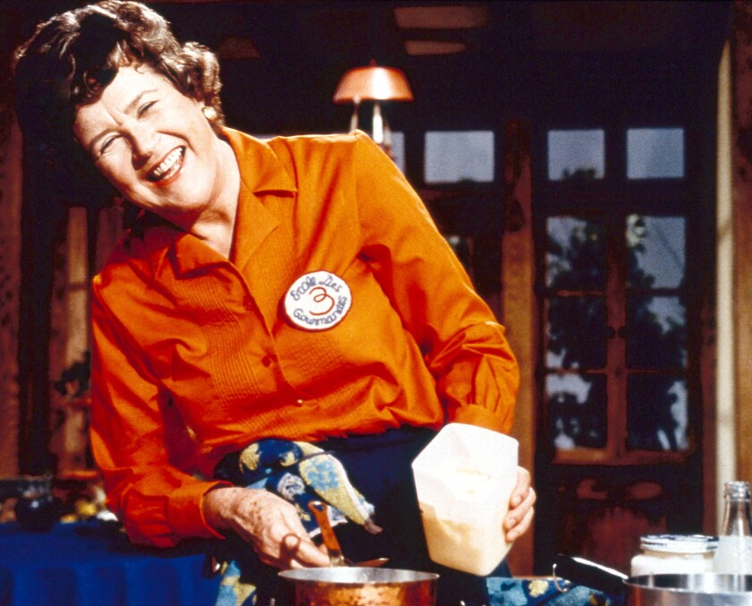 """Dishing With Julia Child"" on PBS."