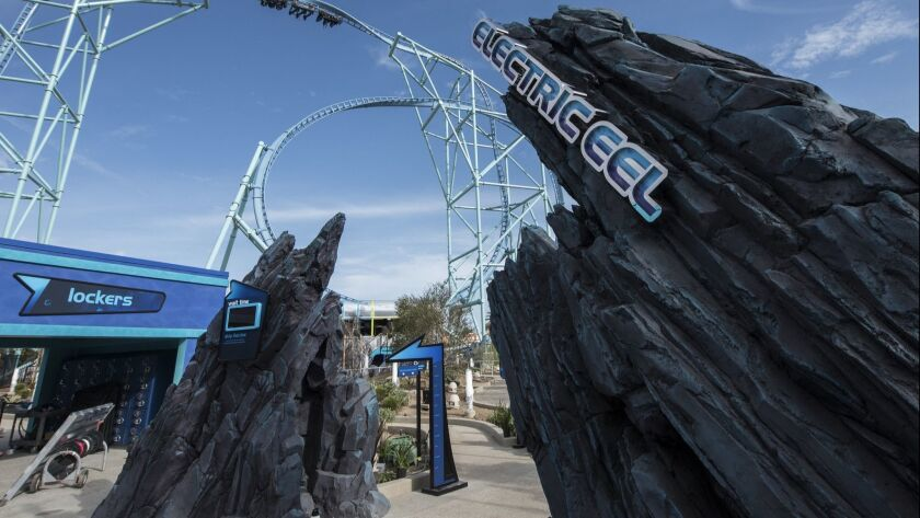 The Electric Eel is a new roller coaster at SeaWorld San Diego that offers riders an upside-down view of Mission Bay. It opened in May.
