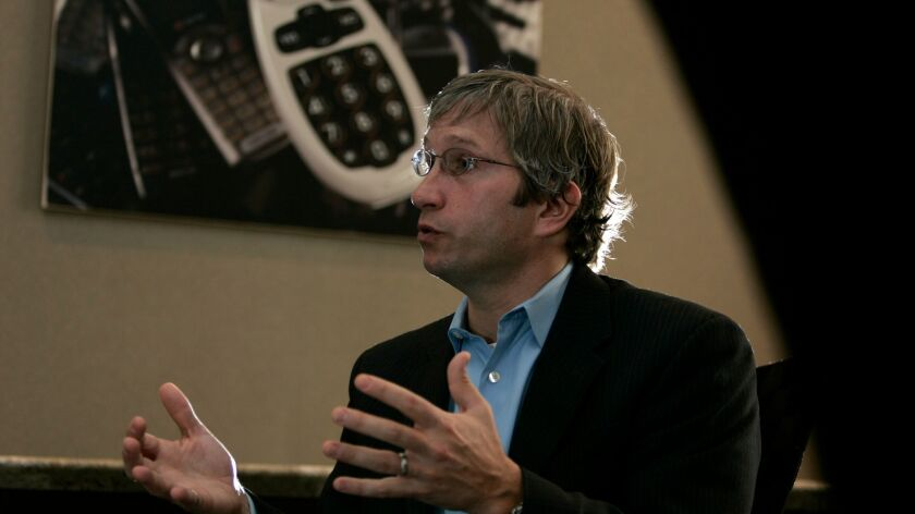 David Inns, chief executive of GreatCall, talks about the company's senior tailored wireless technology services in this Union Tribune 2009 file photo.