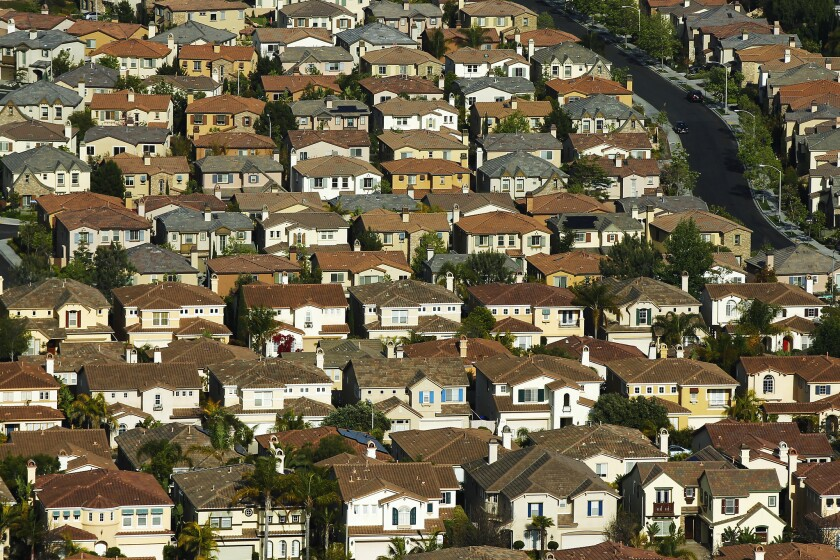 Homes in Carmel Valley. The San Diego County median home price hit an all-time high in November.