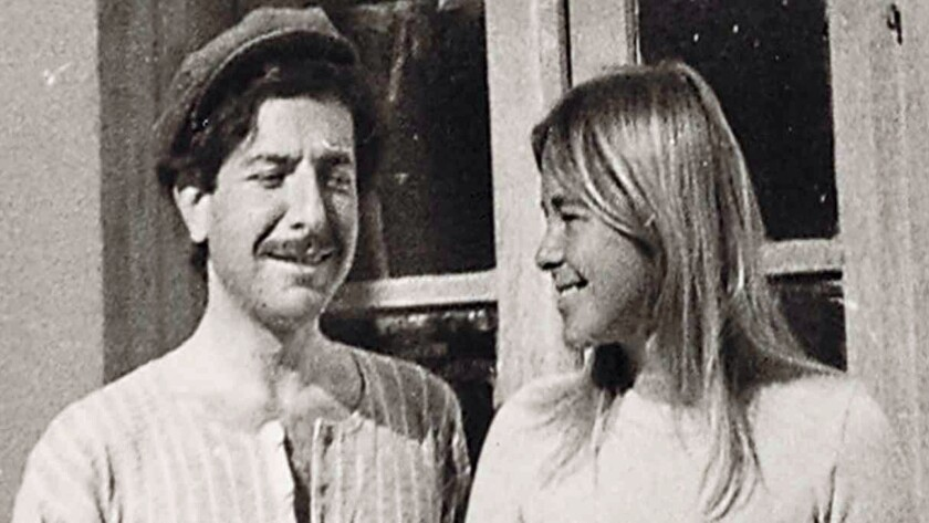 """(L-R)- A Photo of Leonard Cohen and Marianne Ihlen from the film """"MARIANNE & LEONARD: WORDS OF LOVE."""