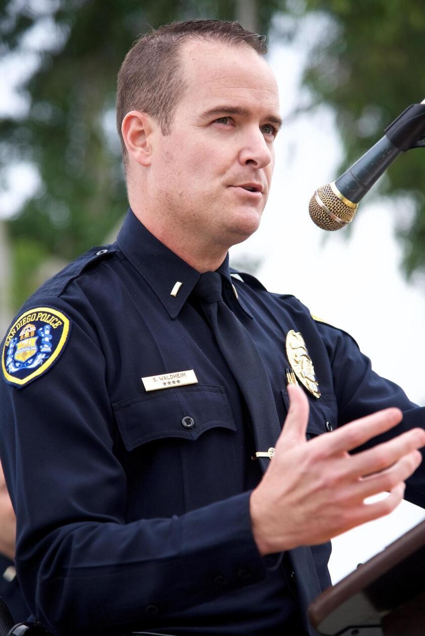Honoree Police Lt. Steven Waldheim speaks about police-community relations.