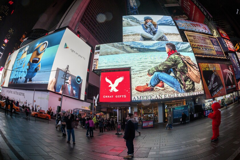 American Eagle Outfitters sees holiday sales growth