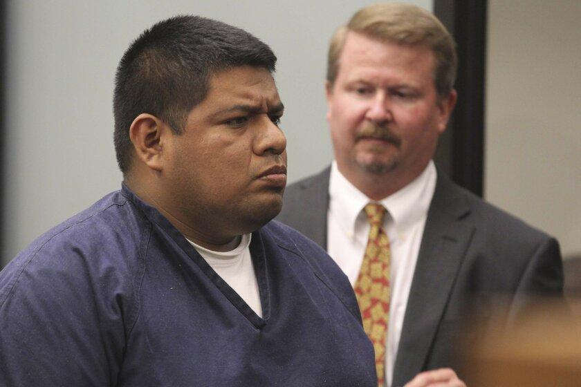 Higinio Soriano Salgado, 31, appears in San Diego Superior Court for arraignment.