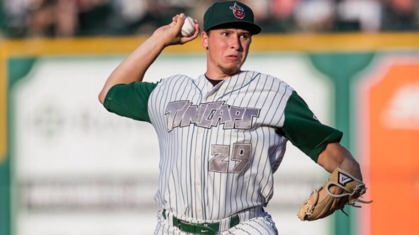 Fort Wayne TinCaps right-hander Lake Bachar was a fifth-round pick of the Padres in 2016.